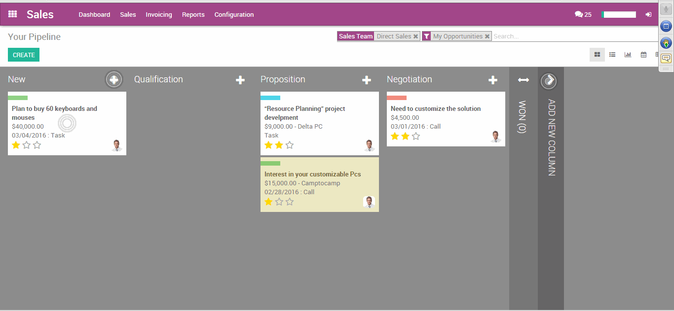 Odoo ERP CMS - a big picture